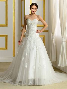 Ericdress Luxury Beading Sweetheart Wedding Dress