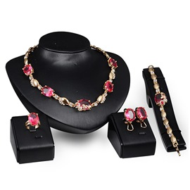 Ericdress Exaggerate Rhinestone Jewelry Set