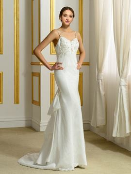 Ericdress Beautiful Backless Lace Mermaid Wedding Dress