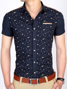 Ericdress Short Sleeve Print Men's Shirt