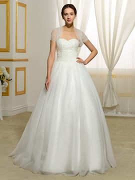Ericdress Gorgeous Beading Sweetheart Ball Gown Wedding Dress With Jacket