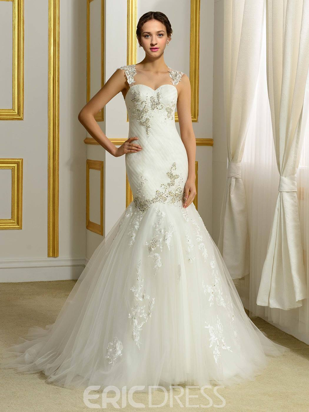 Ericdress Exquisite Beading Mermaid Wedding Dress