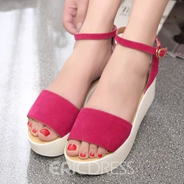 Ericdress New Peep Toe Flat Sandals