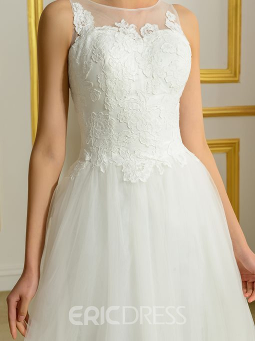 Ericdress Timeless Appliques A Line Wedding Dress