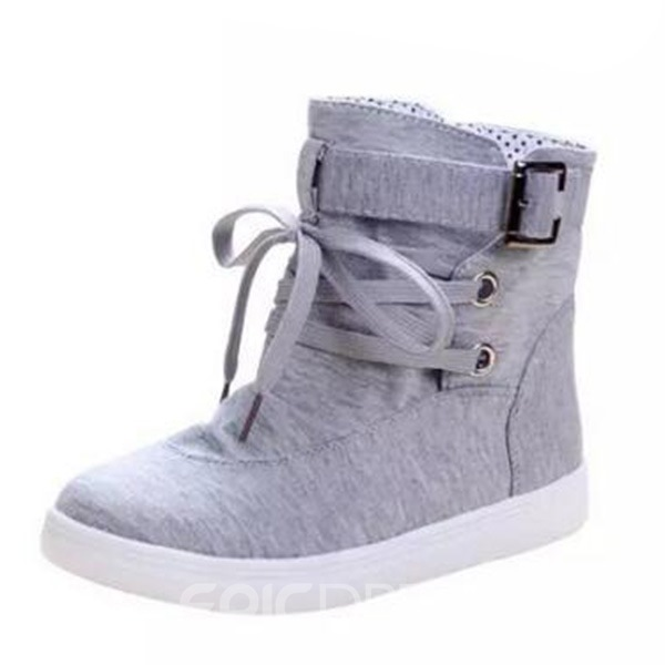 Ericdress Canvas Solid Color Ankle Boots