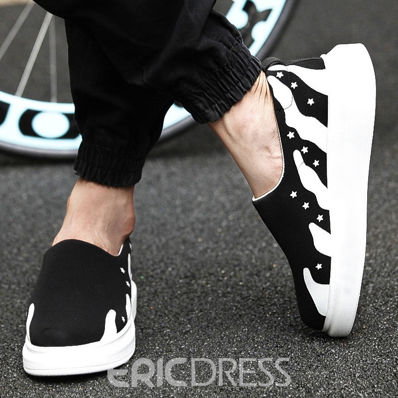 Ericdress Slip-On Flat Heel Contrast Color Men's Sneakers