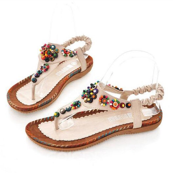Ericdress Bohemian Colorful Beads Flat Sandals