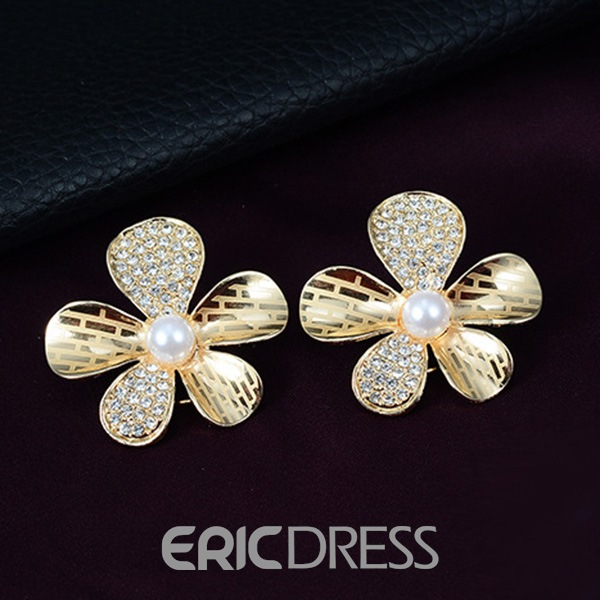 Ericdress Hollow Floral Diamante Jewelry Set