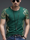 Ericdress Vogue Print Slim Short Sleeve Men's T-Shirt