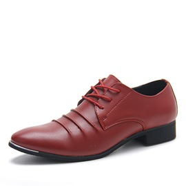 Ericdress Pointed-Toe Lace-Up Square Heels Men's Oxfords