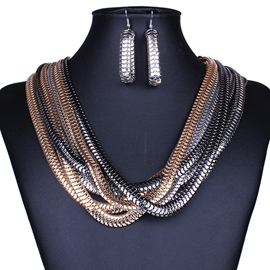 Ericdress Metal Multilayer Winding Jewelry Set