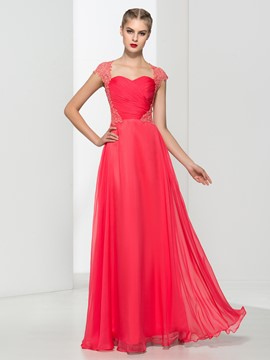 Ericdress Sweetheart Appliques Pleats Prom Dress