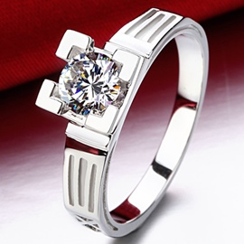 Ericdress Eiffel Tower Design Imitation Diamond Ring