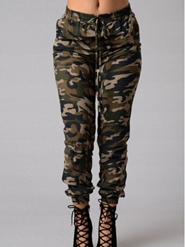 ericdress Mid-Taille Camouflage Frauen Jeans