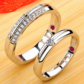 Ericdress Luxury Diamond Couple Ring