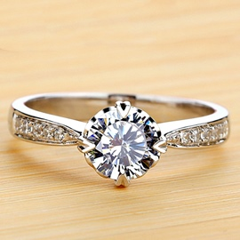 Ericdress Splendid Starlight Imitation Diamond Wedding Ring