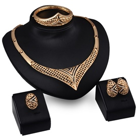 Ericdress Hollow Geometric Shape Wedding Jewelry Set