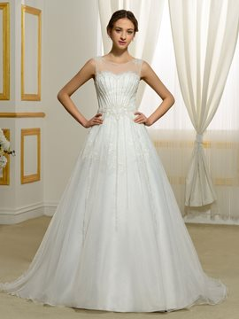 Ericdress Luxury Beading A Line Wedding Dress