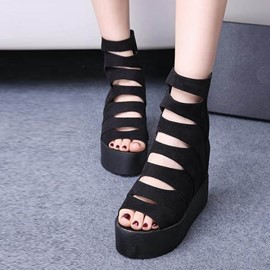Ericdress Stylish Hollow Out Wedge Sandals