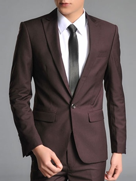 Ericdress Solid Color Gentlemen Suit