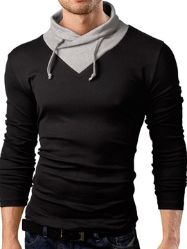 Ericdress Patchwork Collar Slim Casual Men's T-Shirt