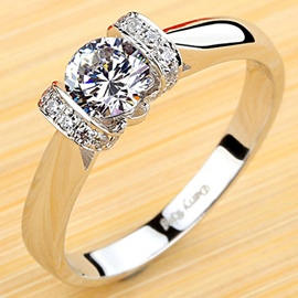 Ericdress OL Style Imitation Diamond Engagement Ring