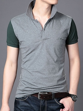 Ericdress Short Sleeve Slim Polo Men's T-Shirt