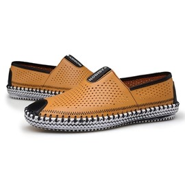 Ericdress Color Block Flat Heel Hollow Men's Loafers