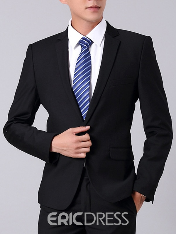 Ericdress Business Plain Slim Three-piece Of Mens Suit