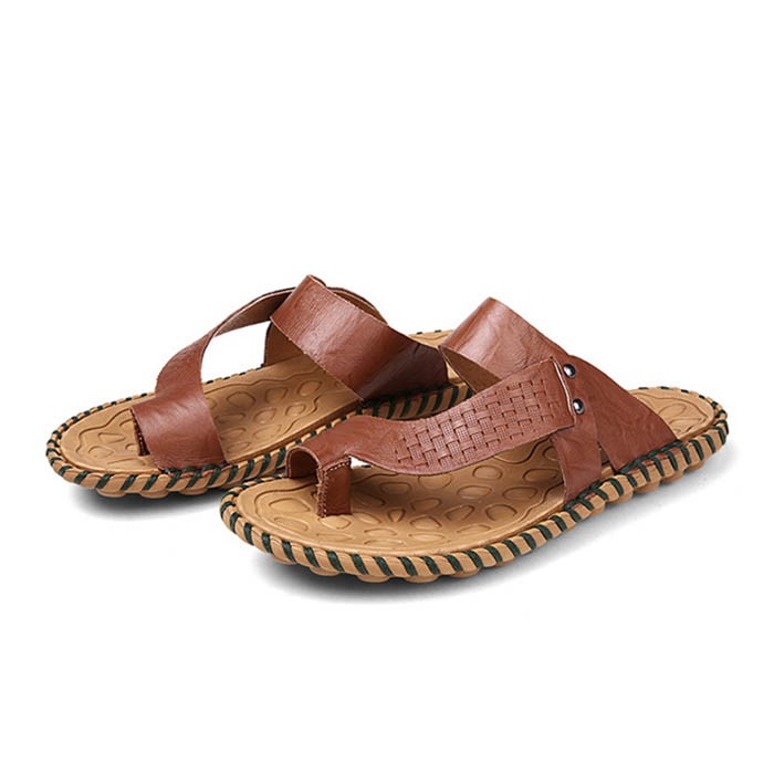 Ericdress Pu Ring-toe Mens Slippers