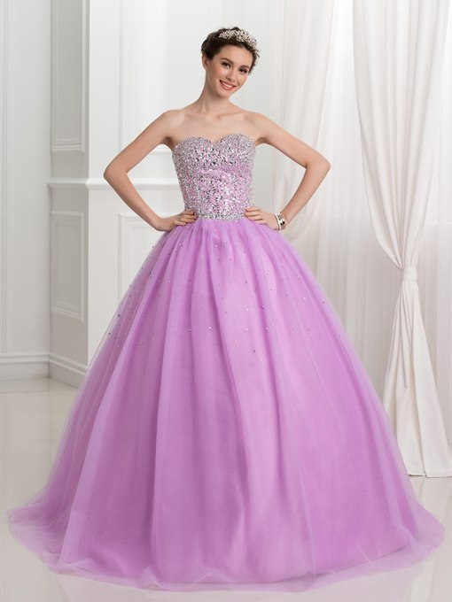 Ericdress Sweetheart Beading Ball Gown Quinceanera Dress