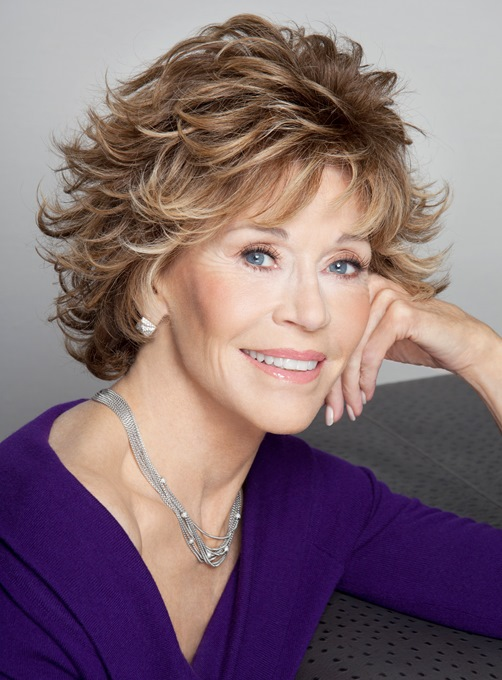 Ericdress Jane Fonda Haircut Wavy Layered Synthetic Hair Capless Wigs 8 Inches
