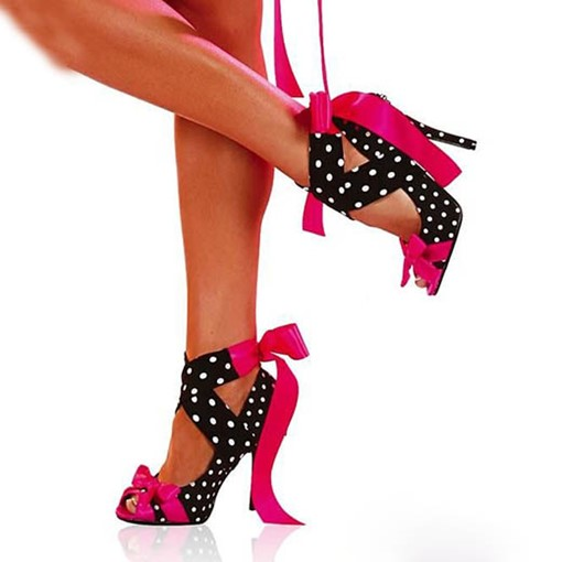 Ericdress Special Polka Dots Cross Strap Stiletto Prom Shoes