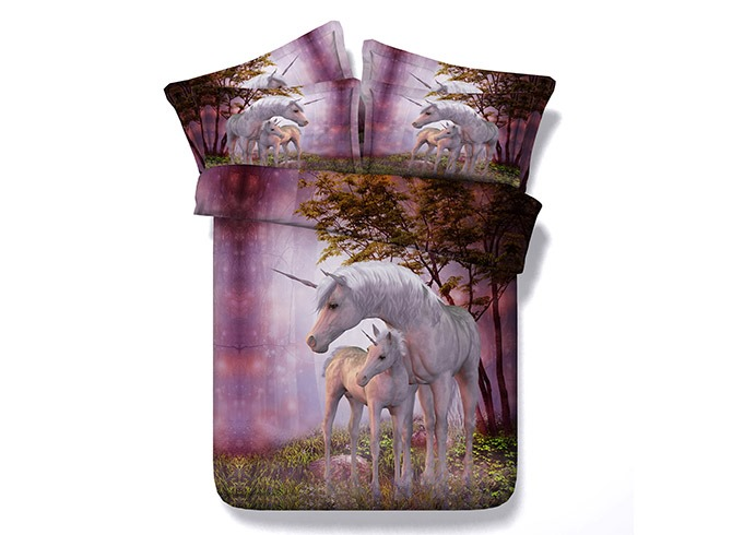 Ericdress Affectionate Horses Digital Print 3D Bedding Sets