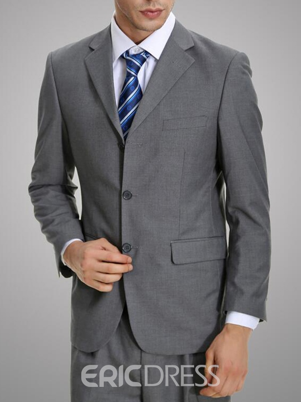 Ericdress Gray All Matched Casual Mens Suit