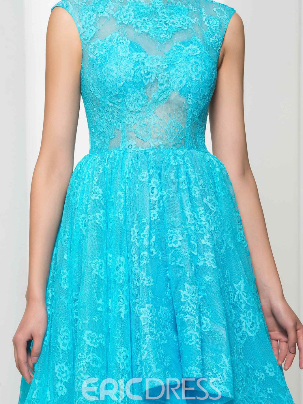 Ericdress Scoop Neck Appliques Lace Prom Dress