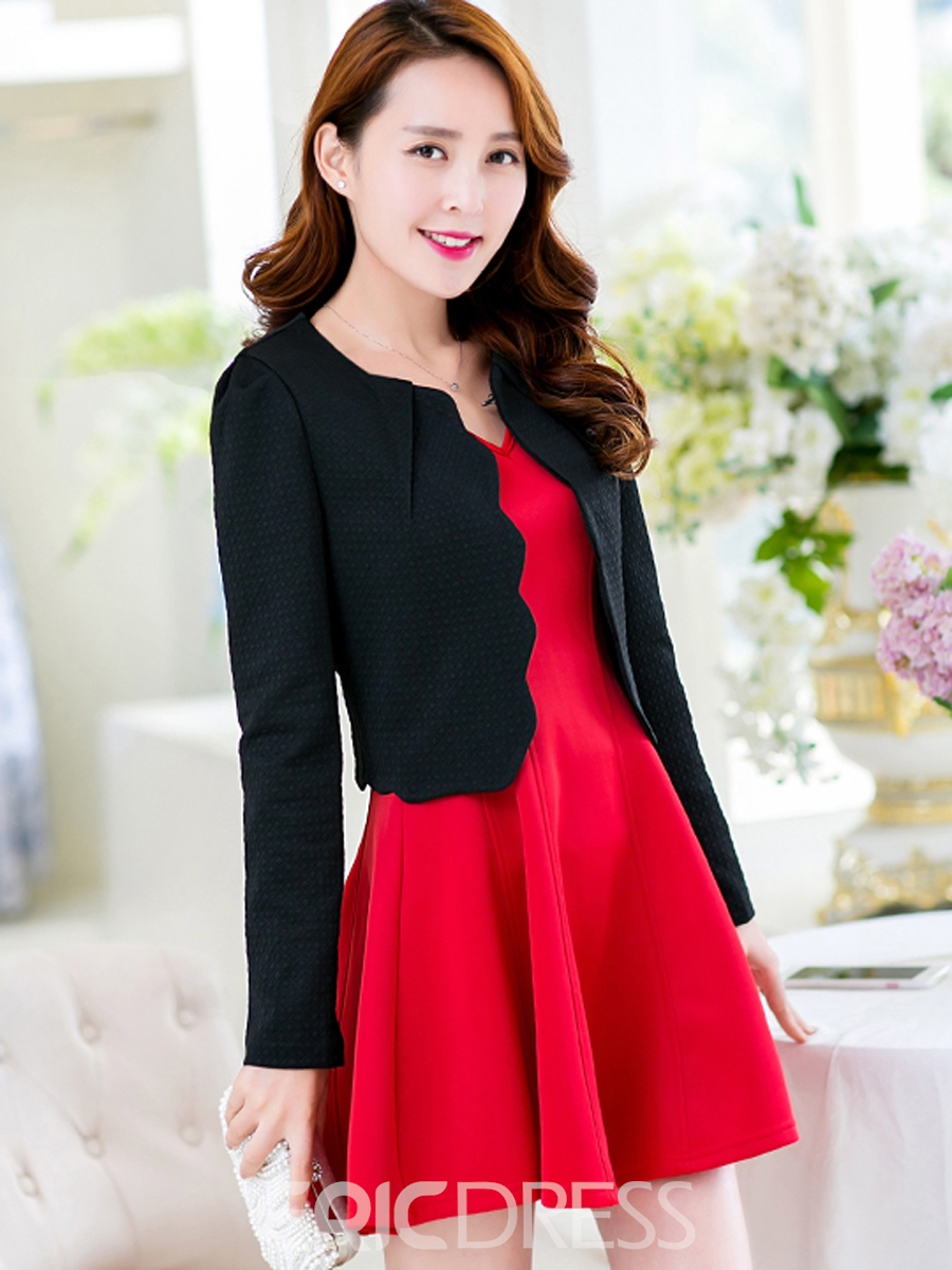 Ericdress Elegant Wave Cut Blazer