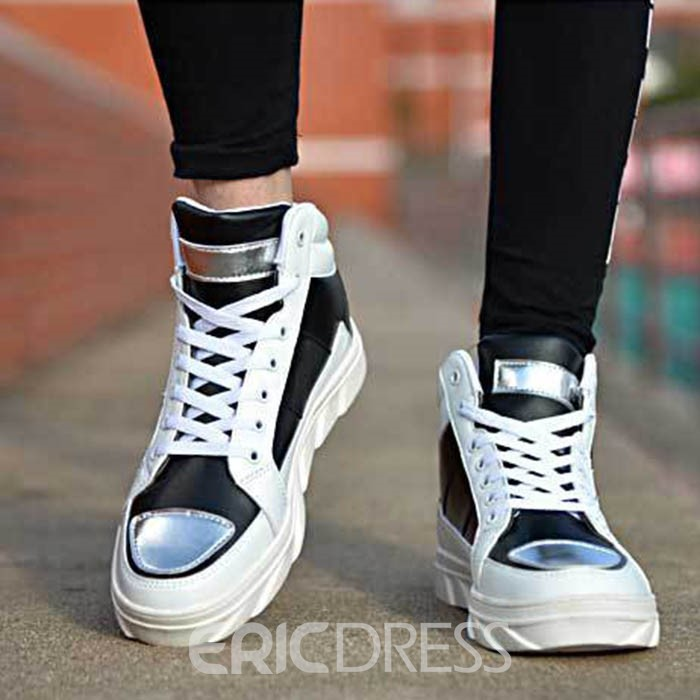 Ericdress Contrast Color Mid Calf Men's Athletic Shoes