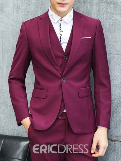 Ericdress Multi-Color Three-Piece Elegant Men's Suit