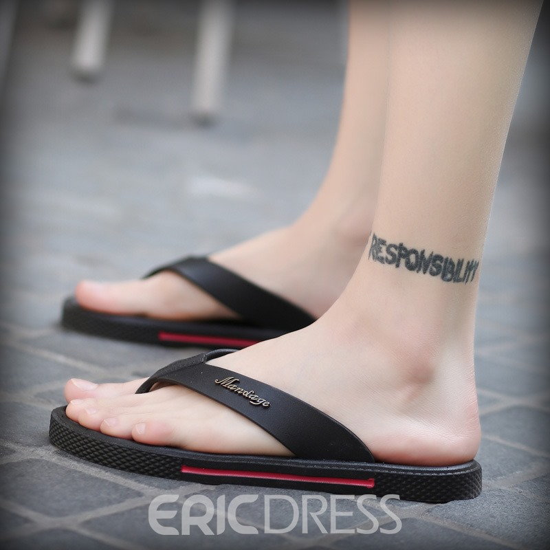 Ericdress PU Thong Men's Slippers