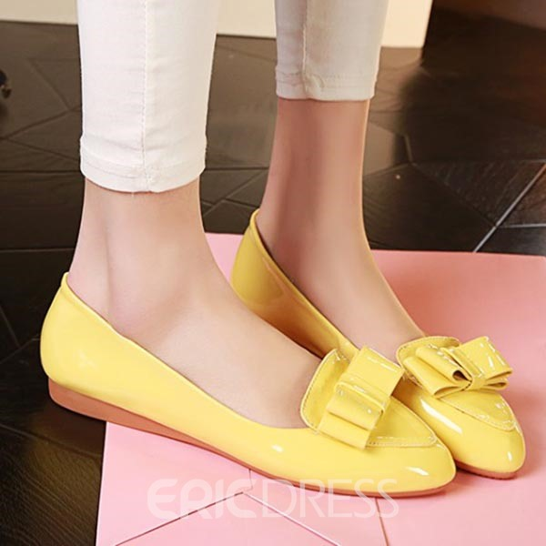 Ericdress Candy Color Point Toe Flats