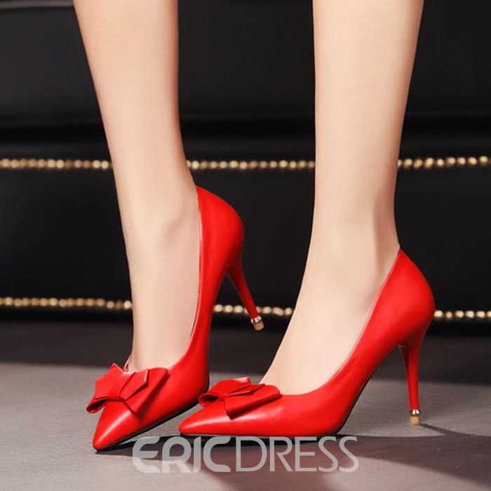 Ericdress Charming Bowtie Point Toe Pumps