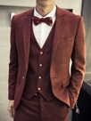 Ericdress British Style Plaid Three-Piece of Men's Suit