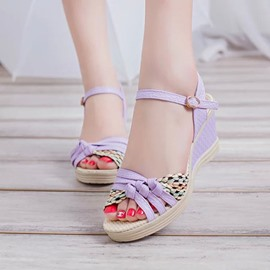 Ericdress Ethnic Wedge Sandals