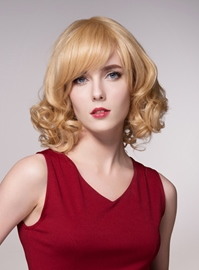 Ericdress Sweet Medium Curly Human Hair Capless Wigs 14 Inches