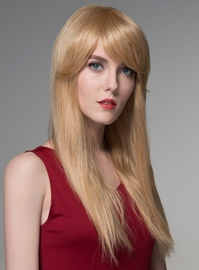 Ericdress Straight Long Human Hair Wigs Capless 24 Inches