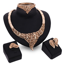 Ericdress European Exaggerate Leaf Jewelry Set