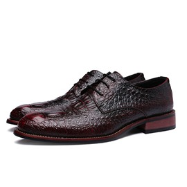 Ericdress Croco Office Lace up Men's Oxfords