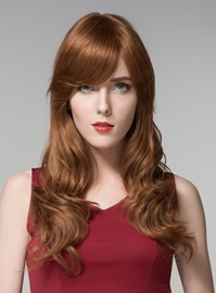 Ericdress Attractive Long Wavy Capless Human Hair Wig 22 Inches