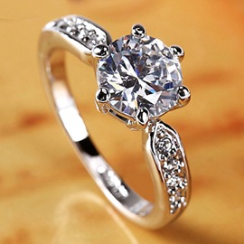 Ericdress Classic 2 carats Diamante Ring